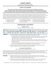 Sample Resume Of Accountant Accountant Format Accountant Resume