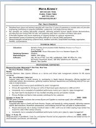 Pre Sales Engineer Sample Resume Format In Word Free Download