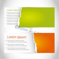 banner design template tear the banner paper design vector templates over millions