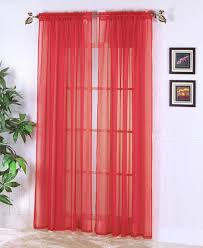 ... Innovative Red Sheer Curtains and 24 Red Sheer Window Curtains Sheer  Voile Window Treatment Panel ...
