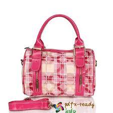 Pink In Coach Poppy Signature Medium Luggage Bags
