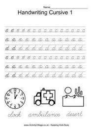 Printable Cursive Handwriting Practice Sheets Letter A 1st Grade