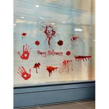 [36% OFF] 2020 <b>Halloween Skull Blood Handprint</b> Pattern Window ...