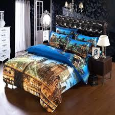 6pcs set modern unique city duvet cover super king size bedding sets for usa canada made us flag