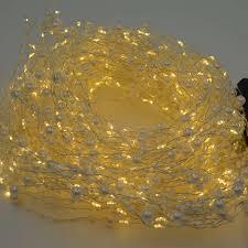 20pcs 400led pearl mini led silver wire string fairy lights 2m warm white