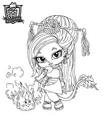 Small Picture Lovely Monster High Baby Coloring Pages 34 For Coloring for Kids
