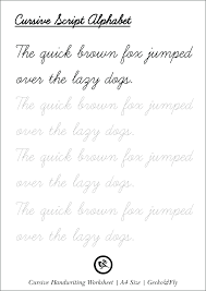 Handwriting Tracing Sheets Handwriting Worksheet S A