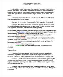 describe a place essay example us essay sample in pdf 12 examples in pdf