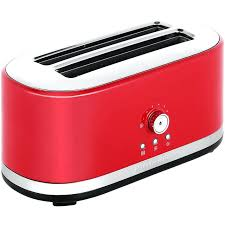 red kitchen aid toaster kitchenaid long slot toaster empire 4 slice red