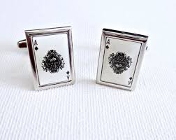 player cards cufflinks stainless steel geeky groomsmen gifts