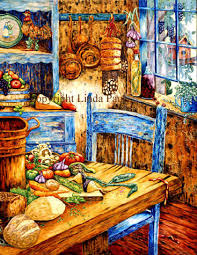 kitchen paintingsFrench Country Kitchen Decorating  Art for Country Kitchens