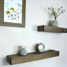 rustic thick wood shelves diy floating use a tic wall shelve
