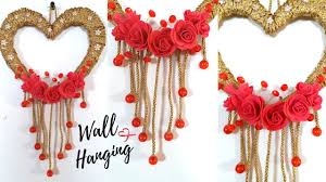 new heart wall hanging craft ideas easy wall decoration ideas for living room by maya