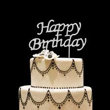 Rhinestones Happy Birthday Cake Topper Kid Boy Girl First 1st Adult