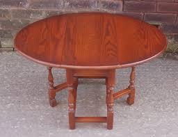 superb old charm solid oak drop leaf side end coffee occasional gate leg table 99 95