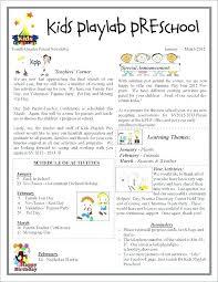 February Newsletter Template Printable Preschool Newsletter Templates Free Word Template