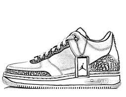 jordans shoes drawings. girl sneaker coloring page new picture shoe clip art clipart jordans shoes drawings