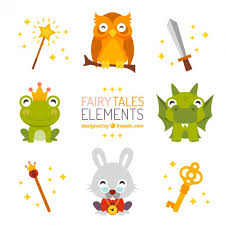 Elements Of A Fairy Tale Fairy Tales Elements Vector Free Download