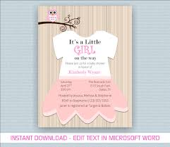 baby shower invite template word printable baby girl shower invite template for word wyant