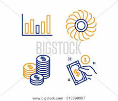 Coins Fan Engine Vector Photo Free Trial Bigstock