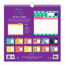 write in calendar 2018 2018 sareka unique designs filing wall calendar summit studios