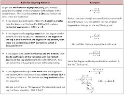 calculus review of horizontal asymptotes