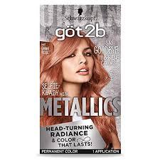 Got2b Metallic Permanent Hair Color M97 Gilded Rose 1 Count