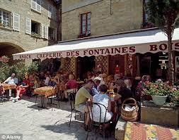 outside of a french restaurant.  Outside Outdoor Restaurant Sarlat SarlatlaCaneda Dordogne France Image In Outside Of A French Restaurant E