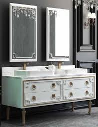 Casa Padrino Luxus Badezimmer Set Weiß Gold 1 Waschtisch Mit 4