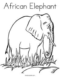 African Elephant Coloring Page Adorable Elephant Coloring Pages