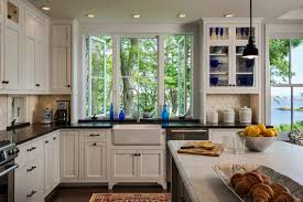 Wood And Green Kitchen  Seaside Coastal Kitchen With Seafoam Coastal Cottage Kitchen Ideas