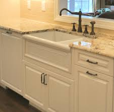 White Apron Kitchen Sink Farmhouse Kitchen Granite Countertops Cliff Kitchen