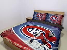 montreal canans carey nhl licensed bedding set limited