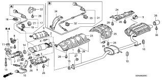 2007 Honda Odyssey Parts   Honda Parts   OEM Honda Parts   OEM moreover P0425 – Catalytic converter temperature sensor  bank 1 in addition What Is A Catalytic Converter And Why Do You Need One together with Lovely 1993 Honda Accord O2 Sensor Wiring Diagram Cleaning also Gorgeous Wiring Diagram Honda Civic 2004 Cleaning Catalytic further 18160 PLR A00   Genuine Honda Converter moreover  as well Parts  ®   Honda CONVERTER  P CC PartNumber 18190RBJG00 moreover  as well L   G Auto Exhaust Experts   Catalytic Converters further 1997 civic EX how many and where are the catalytic converter s. on honda catalytic converter diagram