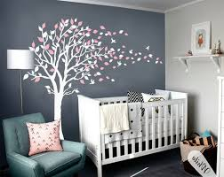 tree decals for nursery white wall