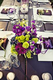 Incredible Image Of Wedding Table Decoration Using Purple And Green Wedding  Table Centerpiece Ideas : Incredible