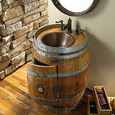 reversible reclaimed wine barrel. Reclaimed Wine Barrel Vanity At Enthusiast - $1,495.00 Reversible E