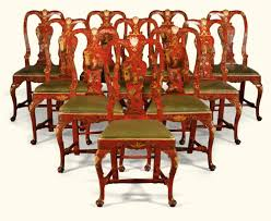 red lacquered furniture. Italian Chinoiserie Red Lacquered And Parcel-gilt Chairs, Venetian, Second Quarter 18th Century Each With An Arched Rectangular Pierced Back Stylised Furniture S