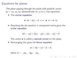 perpendicular planes equation. equations for planes perpendicular equation slideshare