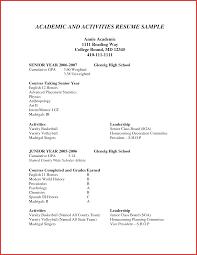 New Activities Resume Template For College Npfg Online