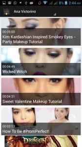 makeup tutorial video apk screenshot