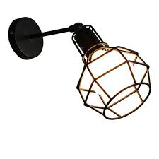 Vintage Plug In Lights Us 20 38 49 Off Vintage Loft 1 Light Plug In Or Hardwire Industrial Cage Wall Sconce Matte Black Finish Retro Wall Lamp For Bedroom Aisle Bar In