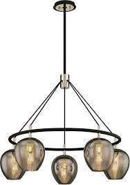 troy f6215 iliad contemporary black nickel 35 nbsp chandelier lighting loading zoom