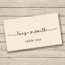 Table Name Cards Template Shoumi Info