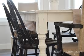 diy shabby chic dining table and chairs. shabby chic farmhouse table with diy chalk paint diy dining and chairs