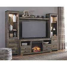 with fireplace console w446 wall2