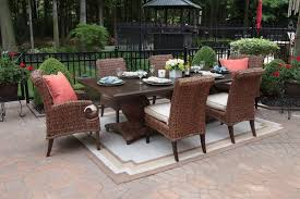 high end garden furniture. beautiful high end patio furniture aerin collection all weather wicker 6 person garden