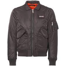 schott nyc charcoal er flight jacket coats jackets charcoal 25912791