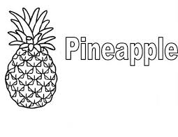 Small Picture Learn to Read Pineapple Coloring Page Download Print Online