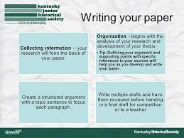 national history day how to writing a paper paper basics consult  5 writing your paper